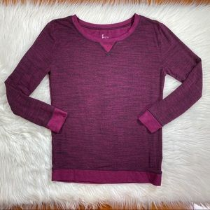 Soft long sleeve Pj top red Felina small